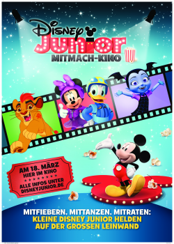 Plakat Disney Junior - Mitmachkino